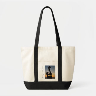 Statue by the Sea; Customizable Tote Bag