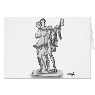 Statue Cartoon 9417 Card