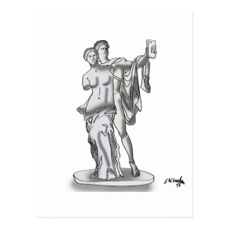 Statue Cartoon 9417 Postcard