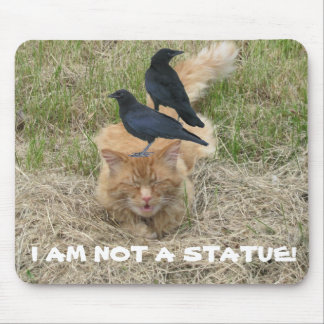 Statue Cat? Mouse Pad