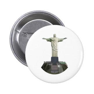 Statue: Christ the Redeemer: 3D Model: 2 Inch Round Button