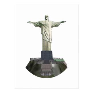 Statue: Christ the Redeemer: 3D Model: Postcard