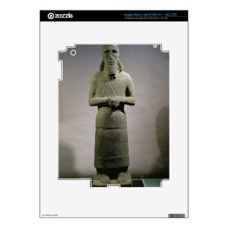 Statue dedicated to the god Haddad-Yishi (basalt) iPad 3 Decal