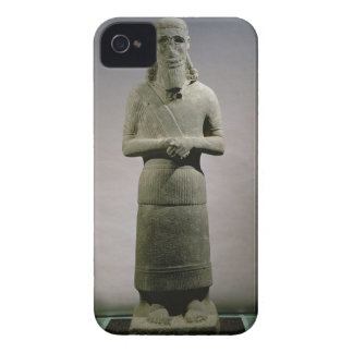 Statue dedicated to the god Haddad-Yishi (basalt) iPhone 4 Case-Mate Case