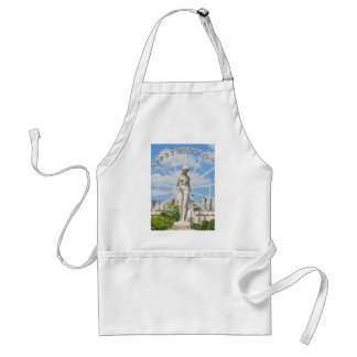 Statue depicting woman in Paris Adult Apron