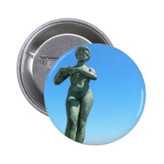 Statue for Gaspar de Portola, Barcelona Pinback Button