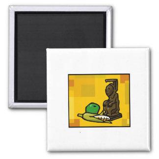 Statue for Kwanzaa 2 Inch Square Magnet