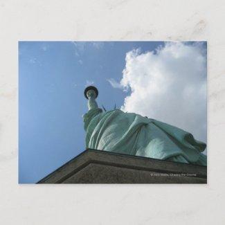 Statue from Below postcard