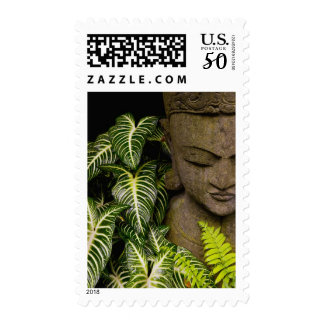 Statue in a Garden: Chiang Mai, Thailand Postage