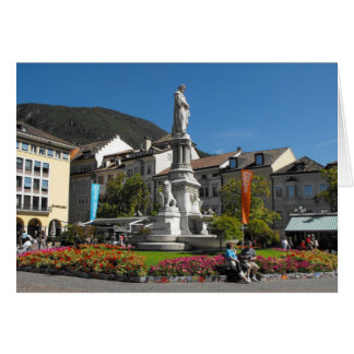 Statue in Bolzano Italy Greeting Card