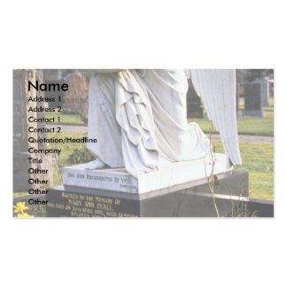 Statue in graveyard, Inverness, Scotland Business Card