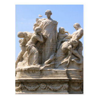 Statue in Rome Italy Postcard