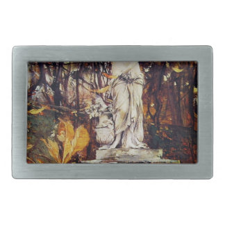 Statue in the Park of Versailles by Giovanni Boldi Rectangular Belt Buckle