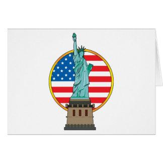 Statue Liberty Flag Card