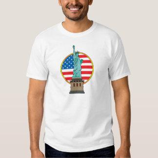 Statue Liberty Flag T Shirt