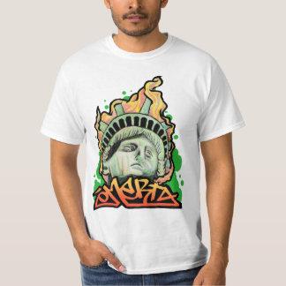 STATUE LIBERTY OMERTA MOB COSA NOSTRA NYC GRAFFITI T-Shirt