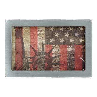 Statue Liberty USA Belt Buckle