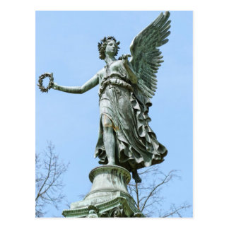 Statue od Angel in Charlottenburg Palace Garden Postcard