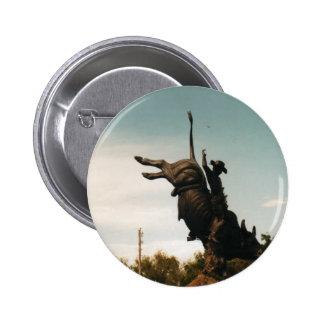 Statue of a bullrider(kkincade12) pinback button