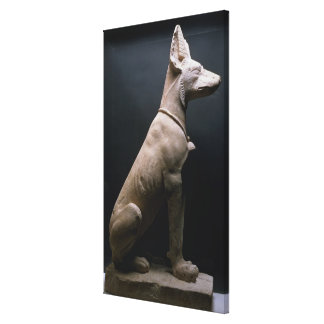 Statue of a Dog, Mesopotamia, c.5000-1000 BC (lime Canvas Print
