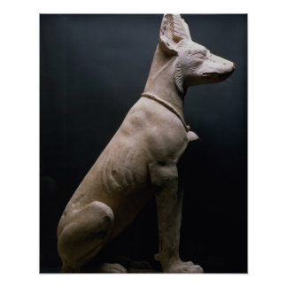Statue of a Dog, Mesopotamia, c.5000-1000 BC (lime Poster