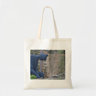 Statue of a Fisherman in Wire Tote Bag