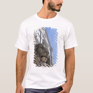 statue of a lion with the facade of Santa Croce T-Shirt