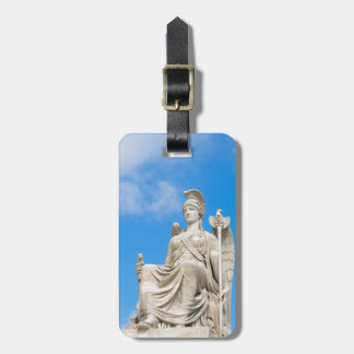 Statue of a queen bag tag