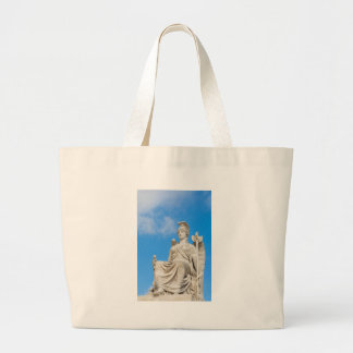 Statue of a queen large tote bag