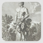 Statue of a Satyr at Versailles, 1675, from 'Vues Square Sticker