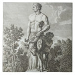 Statue of a Satyr at Versailles, 1675, from 'Vues Ceramic Tiles