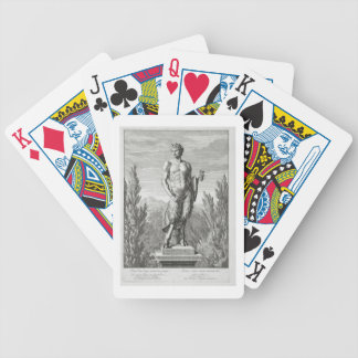 Statue of a Satyr holding a bunch of grapes, Versa Bicycle Playing Cards