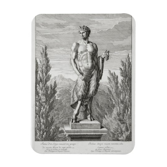 Statue of a Satyr holding a bunch of grapes, Versa Magnet