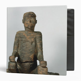 Statue of a seated man, Mbembe, Nigeria 3 Ring Binder