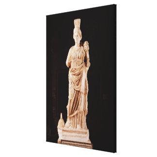 Statue of a tutelary goddess canvas print