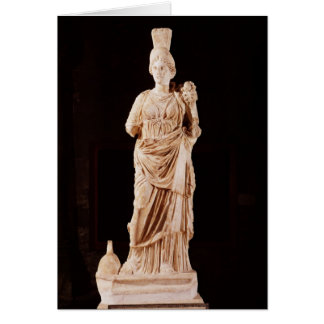 Statue of a tutelary goddess card