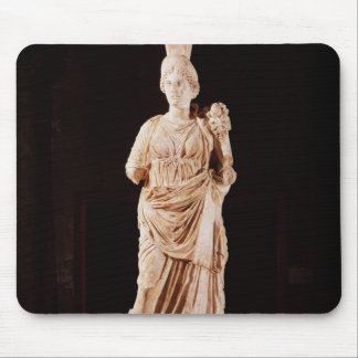 Statue of a tutelary goddess mouse pad