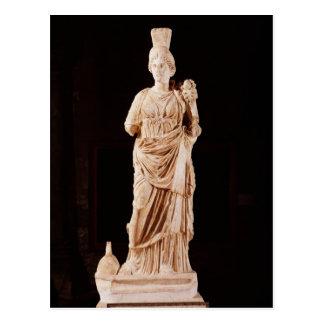 Statue of a tutelary goddess postcard