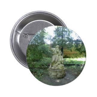 Statue of a Welsh Druid at Erddig Hall Pinback Buttons