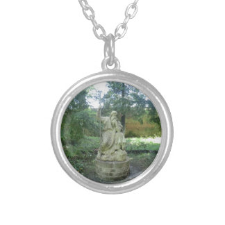 Statue of a Welsh Druid at Erddig Hall Silver Plated Necklace