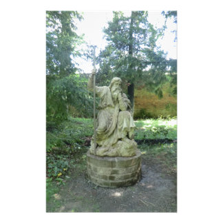 Statue of a Welsh Druid at Erddig Hall Stationery