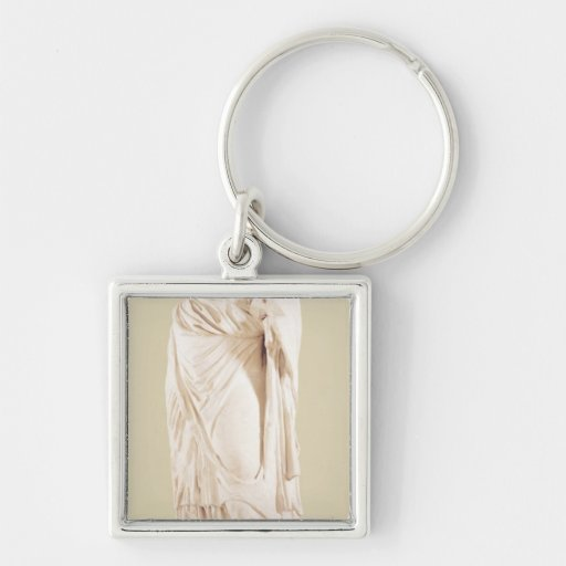 Statue of a woman key chain