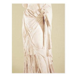 Statue of a woman postcard
