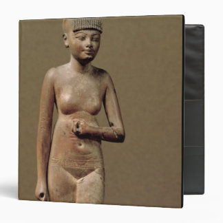 Statue of a young servant girl (wood) 3 ring binder