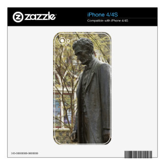 Statue of Abraham Lincoln, Portland, Oregon Decals For iPhone 4S