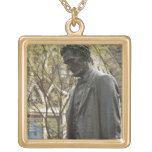 Statue of Abraham Lincoln, Portland, Oregon Square Pendant Necklace