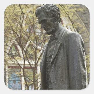 Statue of Abraham Lincoln, Portland, Oregon Square Sticker