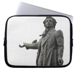 Statue of Alexander Pushkin, Saint Petersburg Computer Sleeve