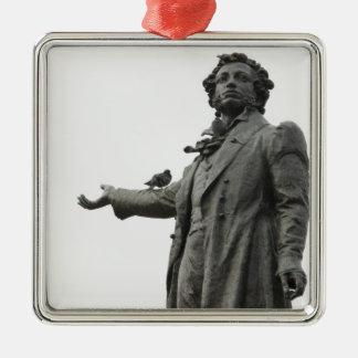 Statue of Alexander Pushkin, Saint Petersburg Square Metal Christmas Ornament