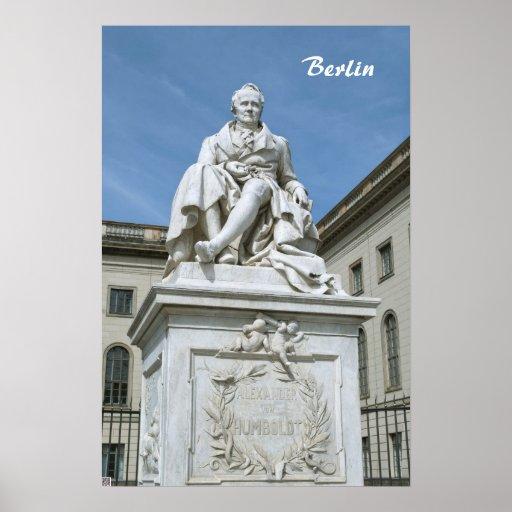 Statue of Alexander von Humboldt in Berlin Poster